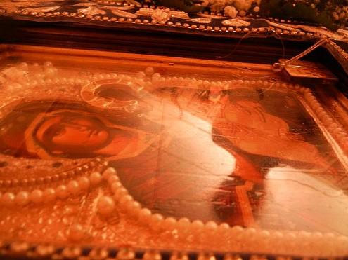 The Holy Icon, streaming fragrant myrrh