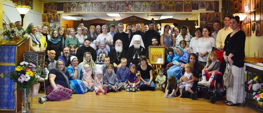 2016 Visit of Metropolitan Hilarion and the Myrrh-Streaming Hawaiian Iveron Icon for the Parish's 15th Anniversary